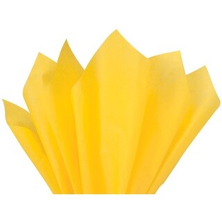"(24 pack) Solid Dandelion Tissue Paper 20 x 30"" Sheet Pack Made From 100% Post Industrial Recycled Fibers"