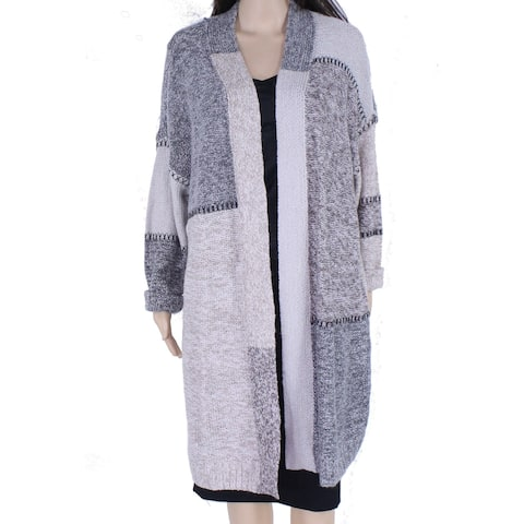 Style & Co Women's Sweater Gray Size 1X Plus Cardigan Open Front