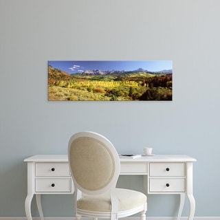 Easy Art Prints Panoramic Images's 'Aspen trees on a landscape, Sneffels Range, Colorado, USA' Premium Canvas Art
