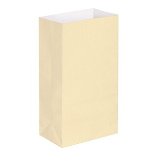 Pack of 100 Traditional Light Tan Cream Decorative Luminaria Bags 11""