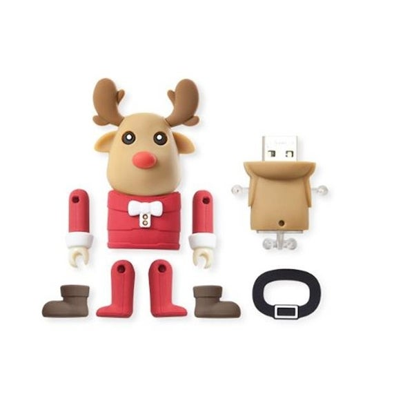 Bone Collection 8 GB Mr.Deer Brown USB Drive with Customizable Parts