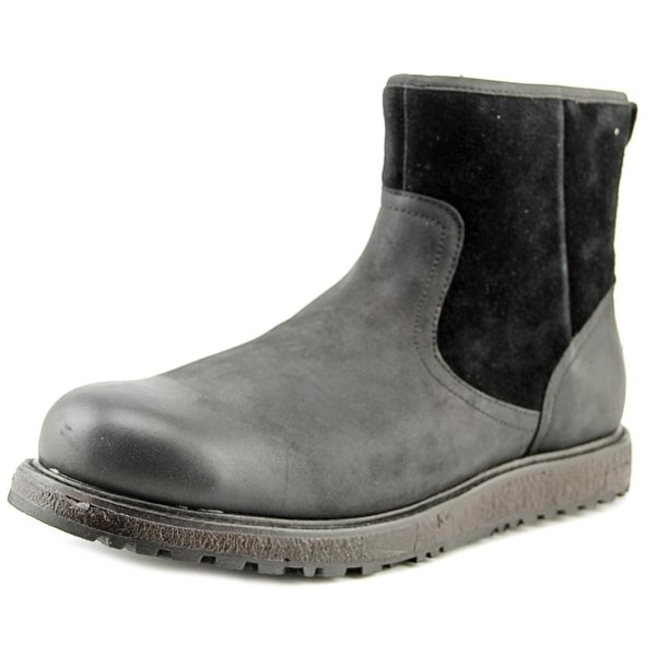 UGG Australia Leather Round-Toe Boots cheap sale sast outlet popular amazon cheap online NgvQkh0r