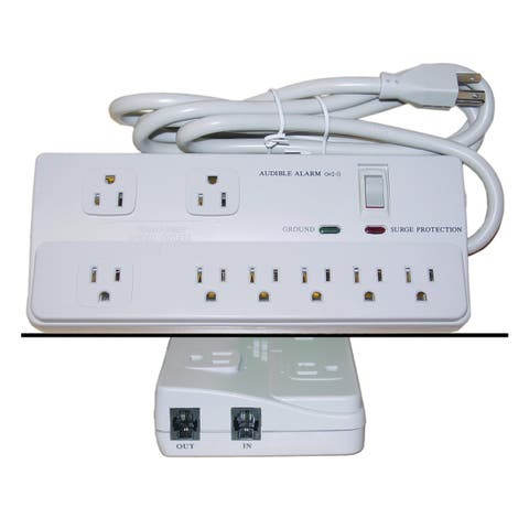 Offex Surge Protector, 8 Outlet, Professional with Fax Modem Protection, Max 2160 Joules, Power Cord 6 foot