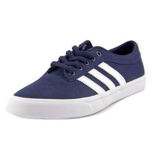Adidas Sellwood J Youth Round Toe Canvas Blue Sneakers
