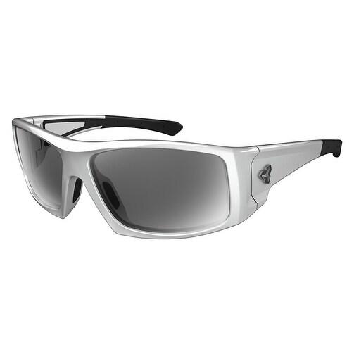 16371e2546c Ryders Eyewear Trapper Shiny White Frame Polarized Grey Lens Sunglasses