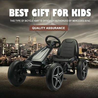 4 Wheels Electric Kids Ride on Go Kart Toy Car Mercedes-Benz Bicycle
