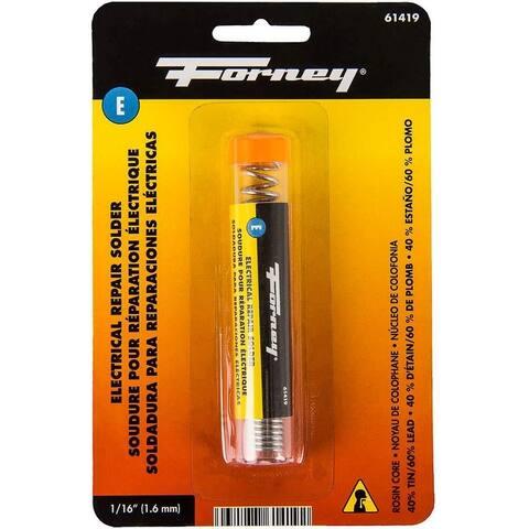 """Forney 61419 Electrical Repair Rosin Solder, 1/16"""", 0.75 Oz"""