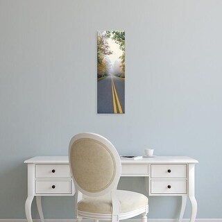 Easy Art Prints Panoramic Images's 'USA, North Carolina, Blue Ridge Parkway, View of leaves on trees' Canvas Art