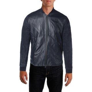 Vince Mens Leather Suede Coat - S