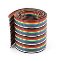 1m 3.3ft 40 Way Rainbow Color Flat Ribbon Cable IDC Wire 1.27mm for Arduino DIY