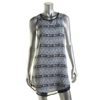 Teeze Me Womens Juniors Sleeveless Knee-Length Casual Dress - S
