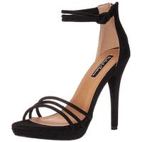 Michael Antonio Womens Trixie Open Toe Ankle Strap Classic Pumps