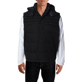 Calvin Klein Mens Hooded Canvas Outerwear Vest - XXL