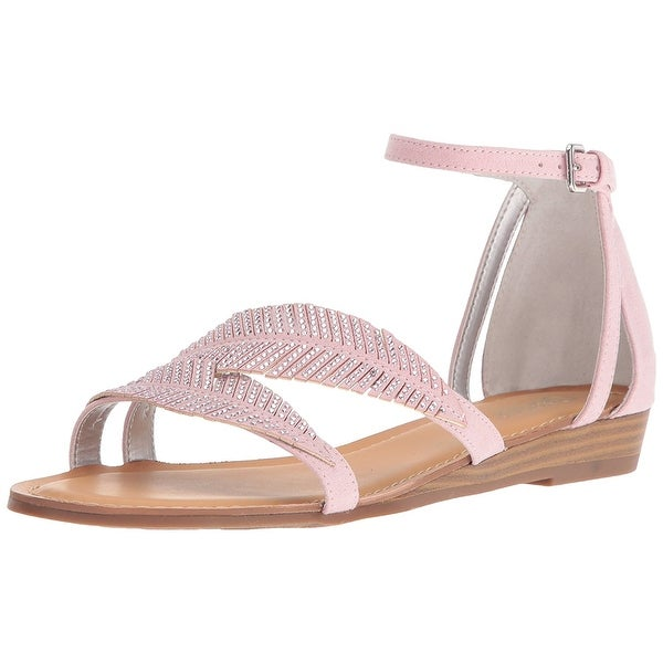 Carlos by Carlos Santana Womens Tempo Fabric Open Toe Casual Ankle Strap Sand...