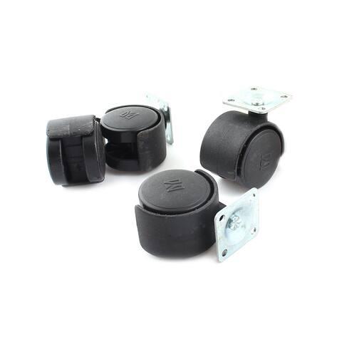 Unique Bargains Computer Chair 41mm Dia Twin Wheel 360 Degree Rotation Swivel Caster x 4