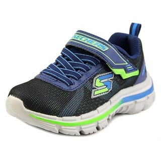 Skechers Nitrate-Brio Youth Round Toe Synthetic Blue Sneakers