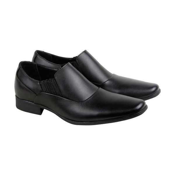 Calvin Klein Bartel Soft Mens Black Leather Casual Dress Loafers Shoes