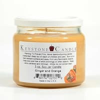 1 Pc 5 oz Ginger and Orange Soy Jar Candles 3.5 in. diameter x 2.75 in. tall