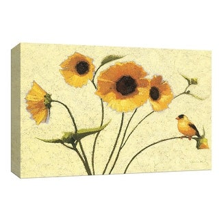 """PTM Images 9-153571  PTM Canvas Collection 8"""" x 10"""" - """"Sunny Flowers IV"""" Giclee Flowers Art Print on Canvas"""