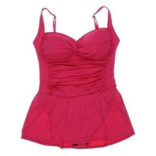 La Blanca Womens Shirred Twist Front One-Piece Swimsuit - 4