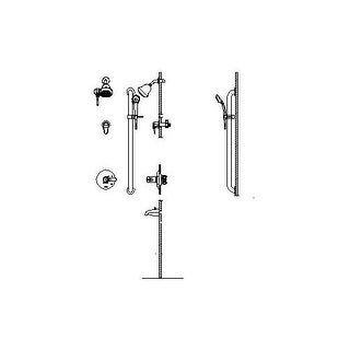 Delta T17TH925-05 Commercial Thermostatic Shower System with Shower Head, Handshower, Tub Spout, Integrated Volume Control, and