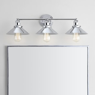 """Link to June 26.5"""" 3-light Metal Vanity Light, Chrome by JONATHAN  Y Similar Items in Sconces"""