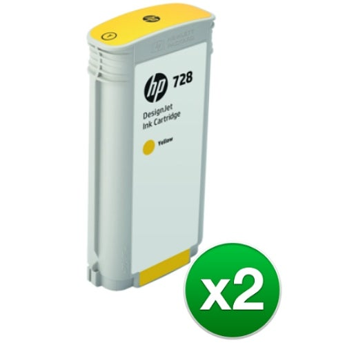 HP 728 130-ml Yellow DesignJet Ink Cartridge (F9J65A)(2-Pack)