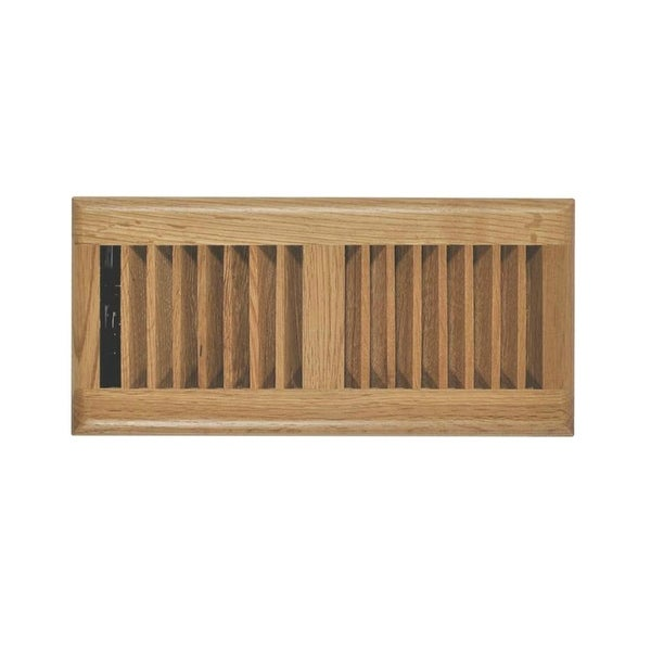 "Imperial RG2240 Light Oak Louvered Floor Register, 2-1/4"" x 12"""