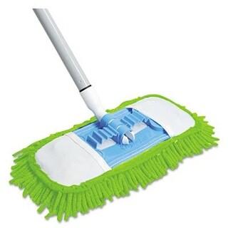 Quickie Microfiber Dust Mop- 48 quot; Steel Handle- Green- Each