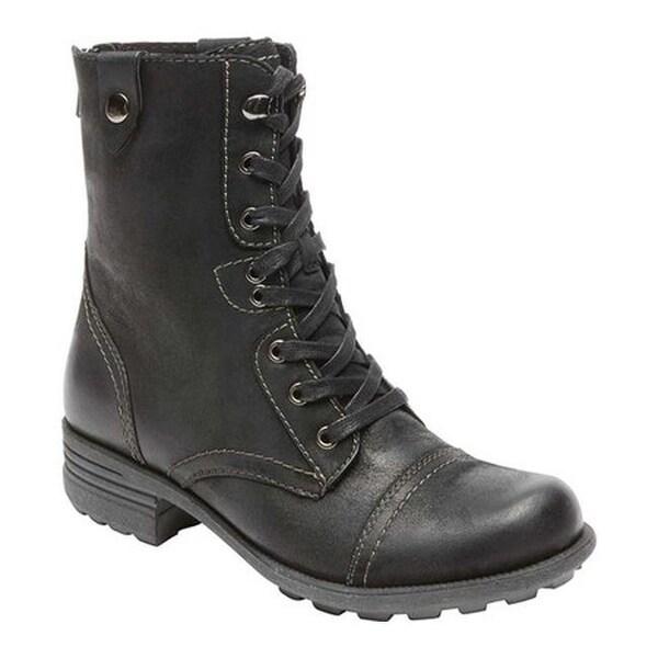 Rockport Women's Cobb Hill Bethany Boot Black Full Grain Leather