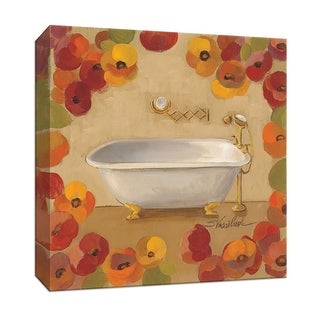 "PTM Images 9-152015  PTM Canvas Collection 12"" x 12"" - ""Floral Bath II"" Giclee Tubs Art Print on Canvas"