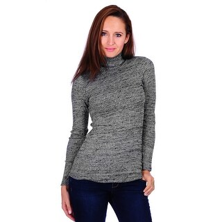 Simply Ravishing Women's Long Sleeve Stretchable Turtle Neck Sweater (Size: S-3X) (More options available)