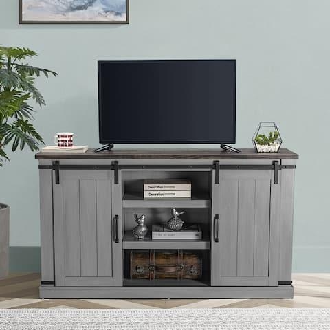 Barn Door 54-inch Rustic TV Stand