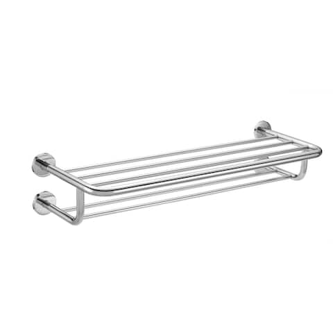 "PROFLO PFTRK04 24"" Stainless Steel Towel Rack - Polished Chrome"