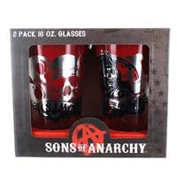 Sons of Anarchy SAMCRO 16oz Pint Glasses, Set of 2 - Multi
