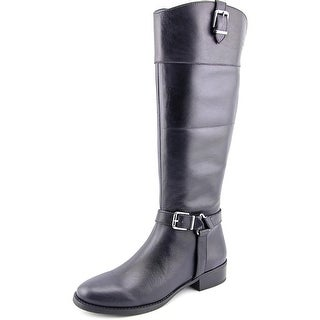 INC International Concepts Fedee Women Round Toe Leather Blue Knee High Boot