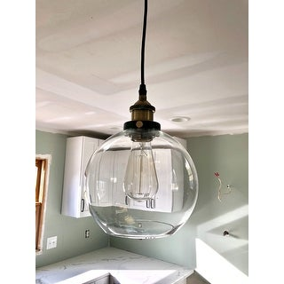 Carbon Loft Gertrude 8-inch Adjustable Height Pendant with Bulb