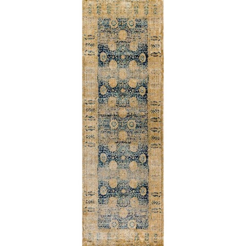 Alexander Home Contessa Traditional Floral Distressed Border Rug