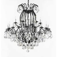 Wrought Iron Crystal Chandelier Lighting Empress Crystal H52 x W46