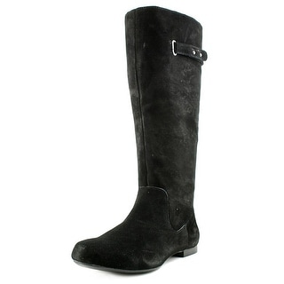 Style & Co Mabble Women Round Toe Leather Black Mid Calf Boot