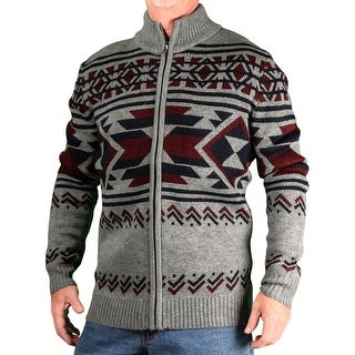 Blacksmith Men's Jaquard Mock-Neck Zip Sweater
