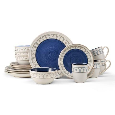 Pfaltzgraff Remi Blue 16-piece Dinnerware Set (Service for 4)