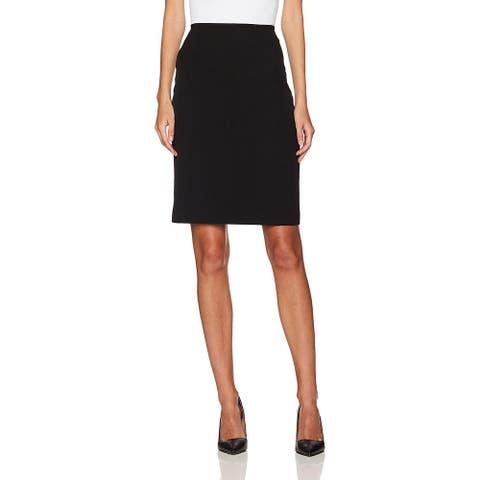 Tahari by Arthur S. Levine Petite Womens Pencil Skirt Black Size 16