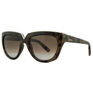 Valentino V661/S 212 Havana Poudre Fashion Sunglasses