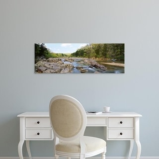 Easy Art Prints Panoramic Images's 'River flowing through rocks, Black river, Missouri, USA' Premium Canvas Art