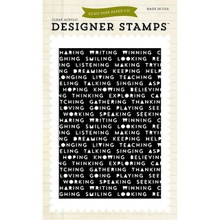 "Echo Park Stamps 4""X6""-Words"
