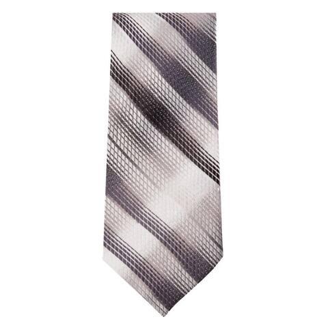 Marquis Men's Grey and Black Stripes 3 1/4 Tie & Hanky Set TH102-017 - Regular