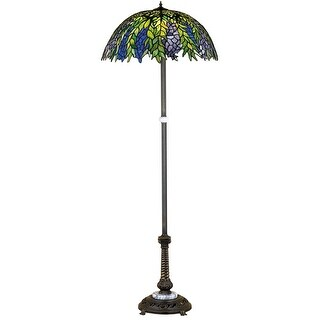 Meyda Tiffany 31113 Stained Glass / Tiffany Floor Lamp from the Honey Locust Collection - tiffany glass