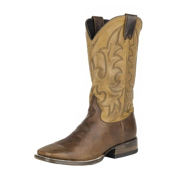 Stetson Western Boots Mens Fuccini Floppy Brown