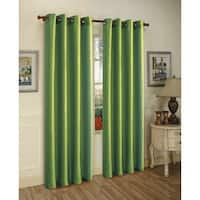 Sabah Faux Silk Panel With 8 Grommets, Green, 55x95
